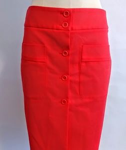 Theory Front Button Skirt